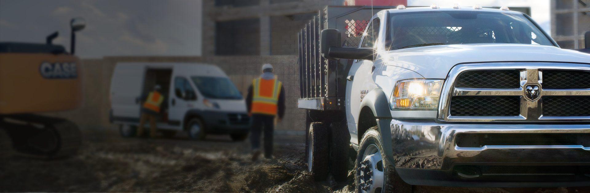Camionetas Ram Chassis Cab 2018 en el lugar de trabajo