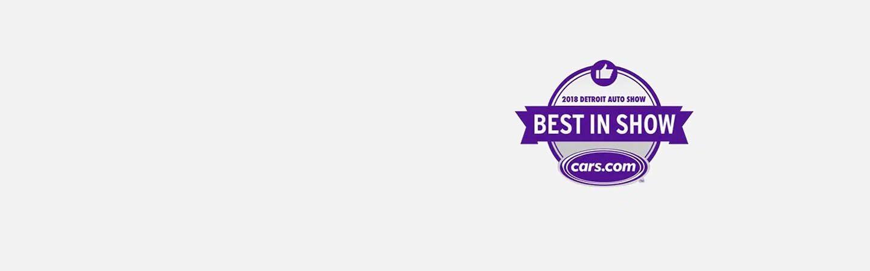 Logo de 2018 Detroit Auto Show y Cars.com Best in Show.