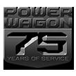 Logo dePower Wagon75Years of Service.