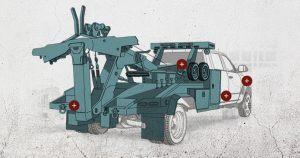 Ilustración de una Ram Chassis Cab mejorada con equipo.